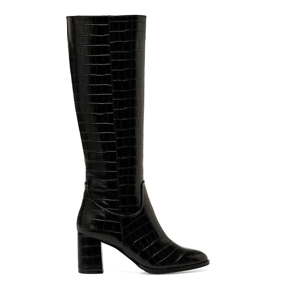 MASSA Siyah Kadın Topuklu Çizme