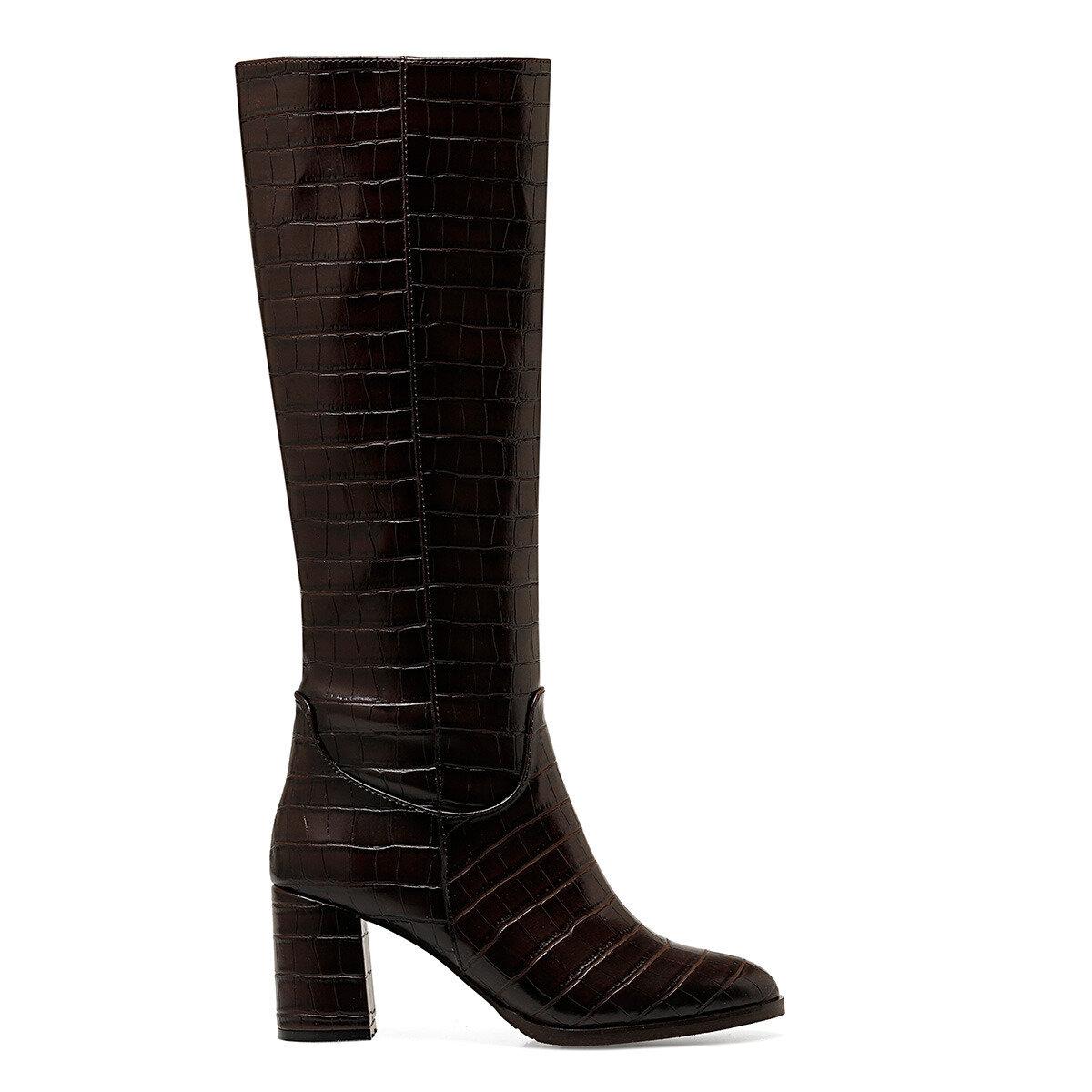 MASSA Kahverengi Kadın Ökçeli Çizme
