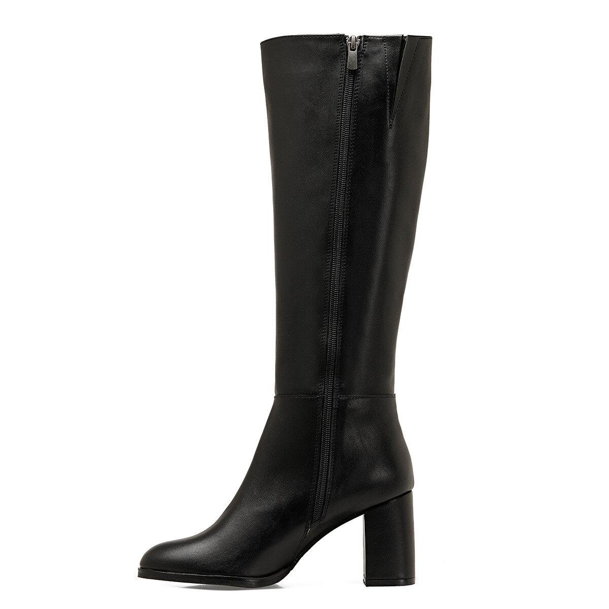 SETRA Siyah Kadın Topuklu Çizme