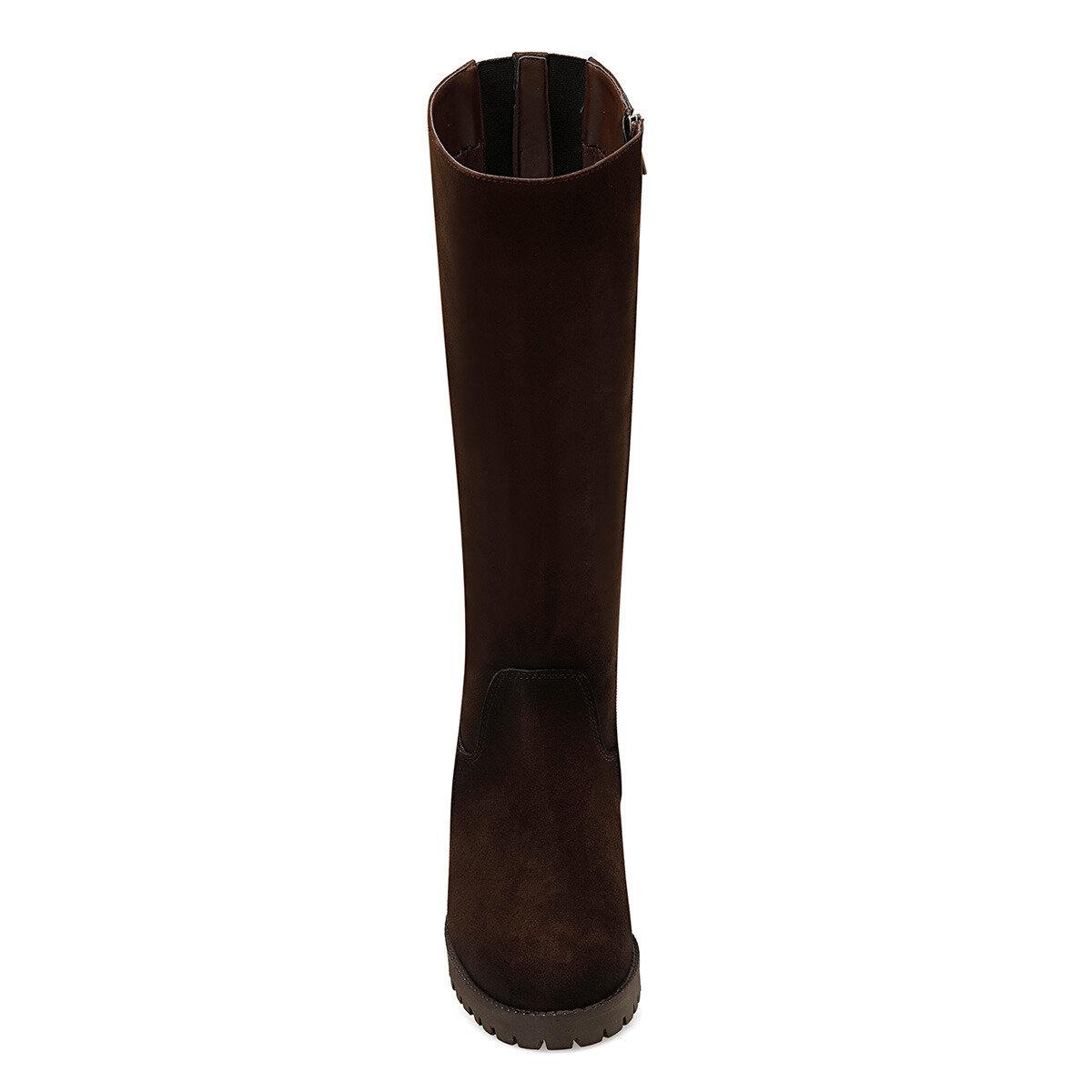 KORLE Kahverengi Kadın Düz Çizme
