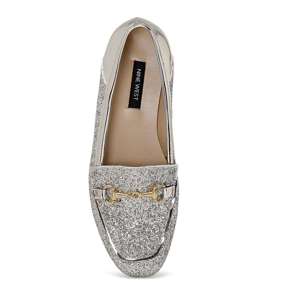 FURY Gümüş Kadın Loafer Ayakkabı