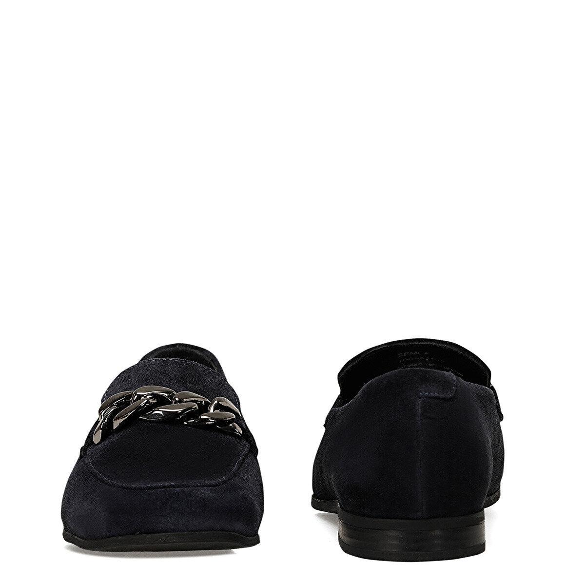 SEMLA Lacivert Kadın Loafer Ayakkabı