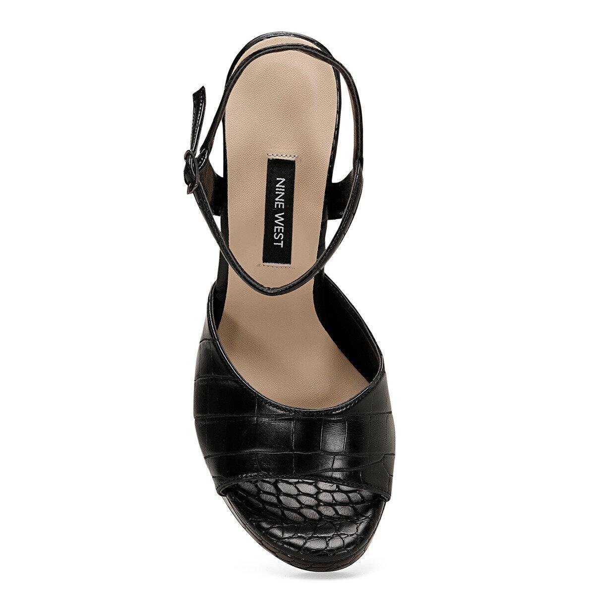 CENDO Siyah Kadın Topuklu Sandalet