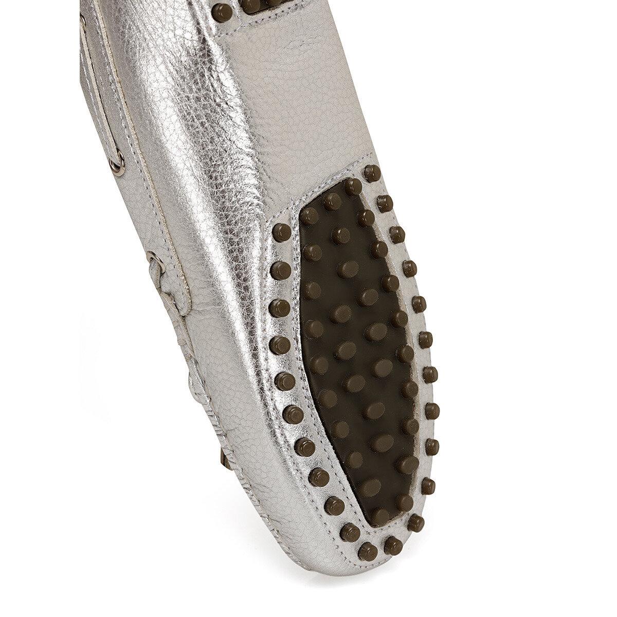 HOLT3 Gümüş Kadın Loafer Ayakkabı