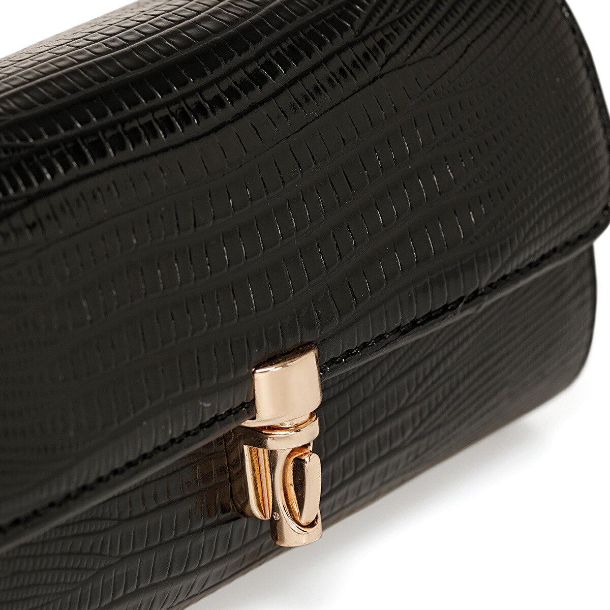 LIPAR Siyah Kadın Çapraz Çanta