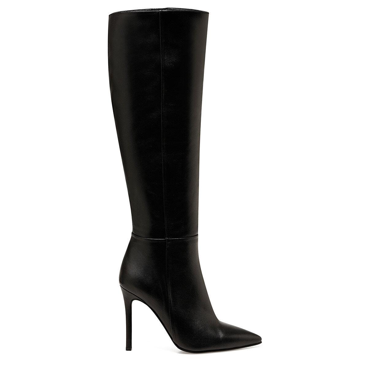 MISTA Siyah Kadın Topuklu Çizme