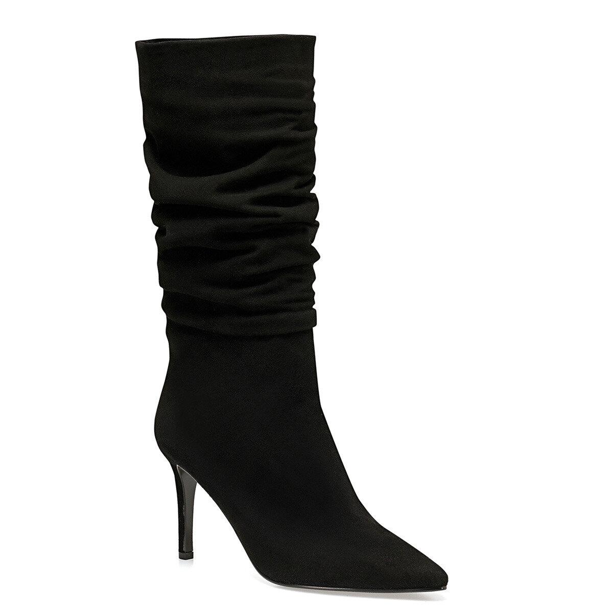 MOLLY Siyah Kadın Ökçeli Çizme