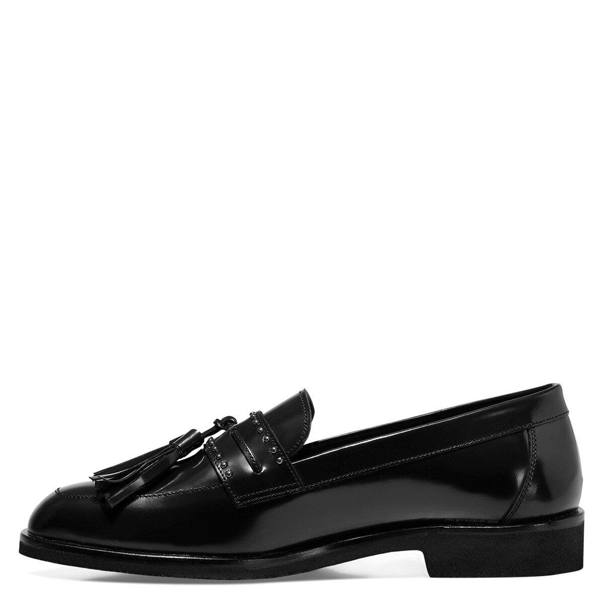 BRIOCHE Siyah Kadın Loafer Ayakkabı