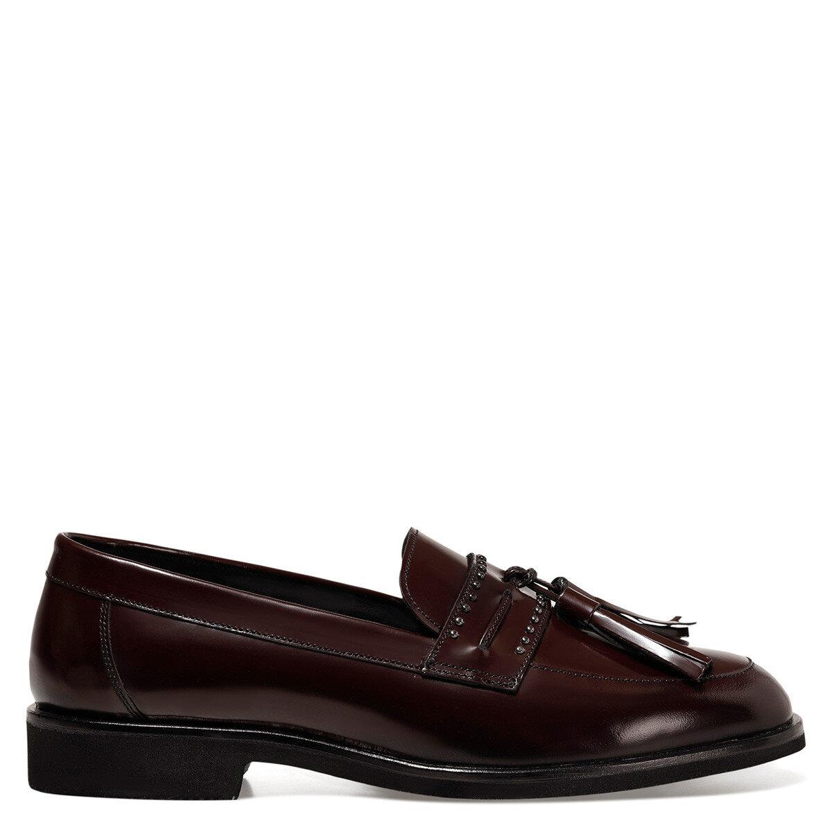 BRIOCHE Bordo Kadın Loafer Ayakkabı