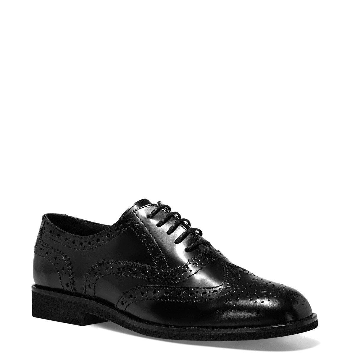 PERAN Siyah Kadın Maskulen Ayakkabı