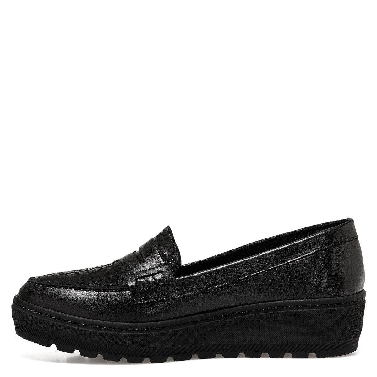 MORLEE Siyah Kadın Loafer Ayakkabı