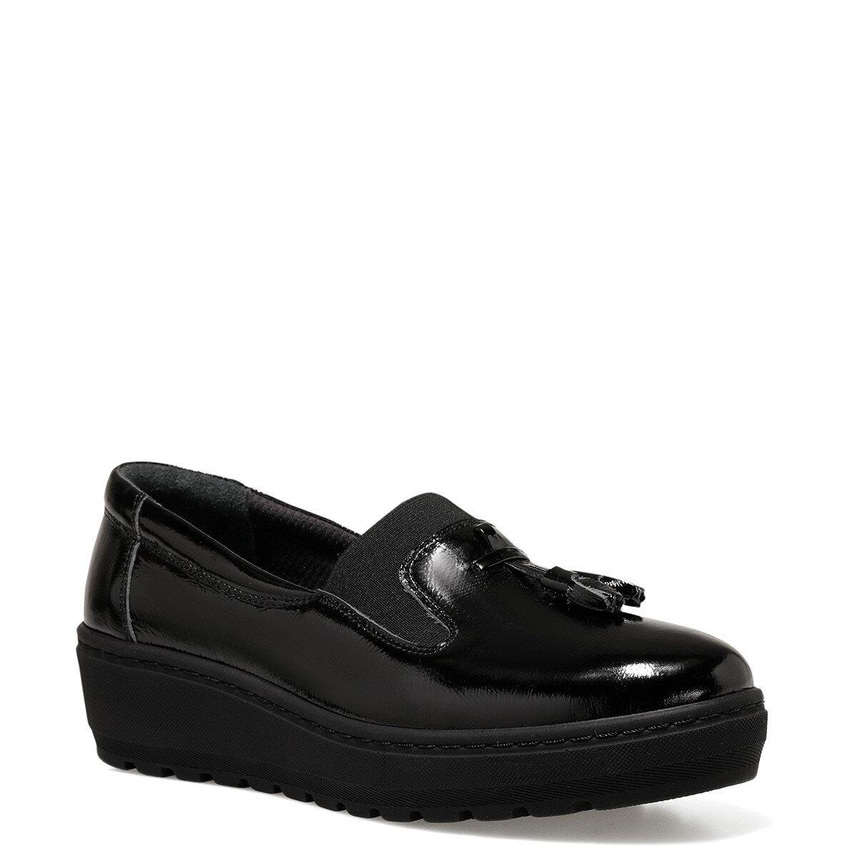 MOSLI Siyah Kadın Loafer Ayakkabı