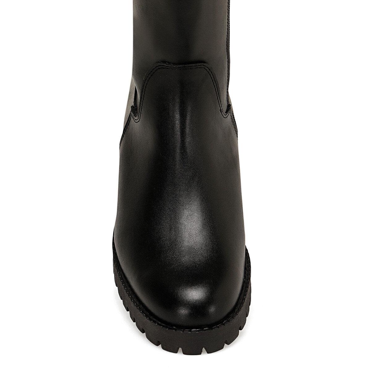 KORLE3 Siyah Kadın Çizme