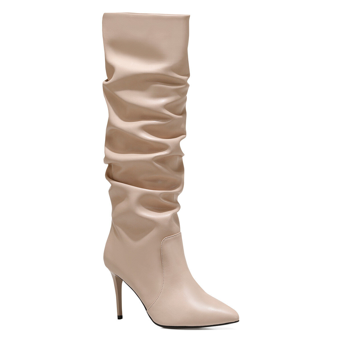 PINTO Pudra Kadın Topuklu Çizme