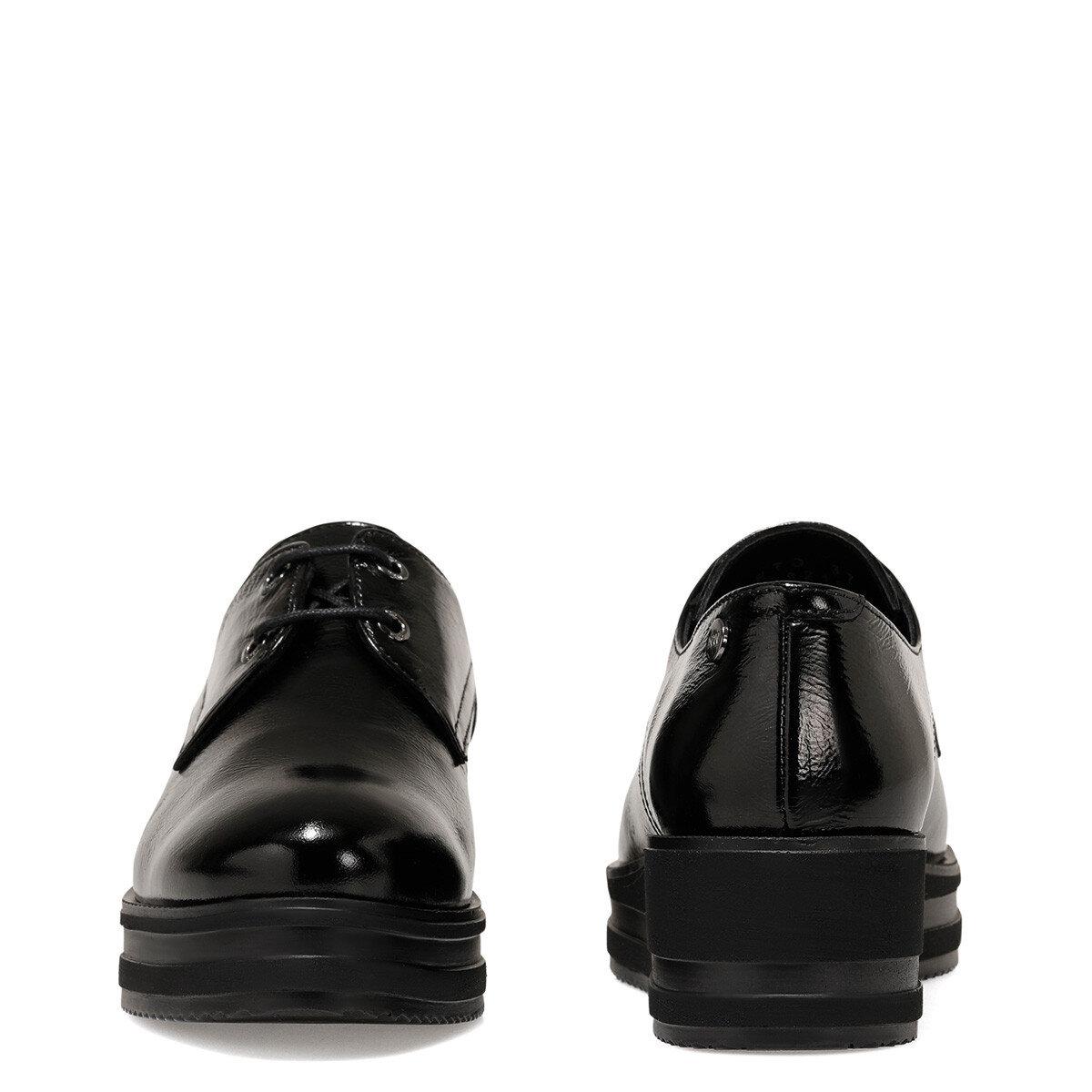 FARTO Siyah Kadın Maskulen Ayakkabı