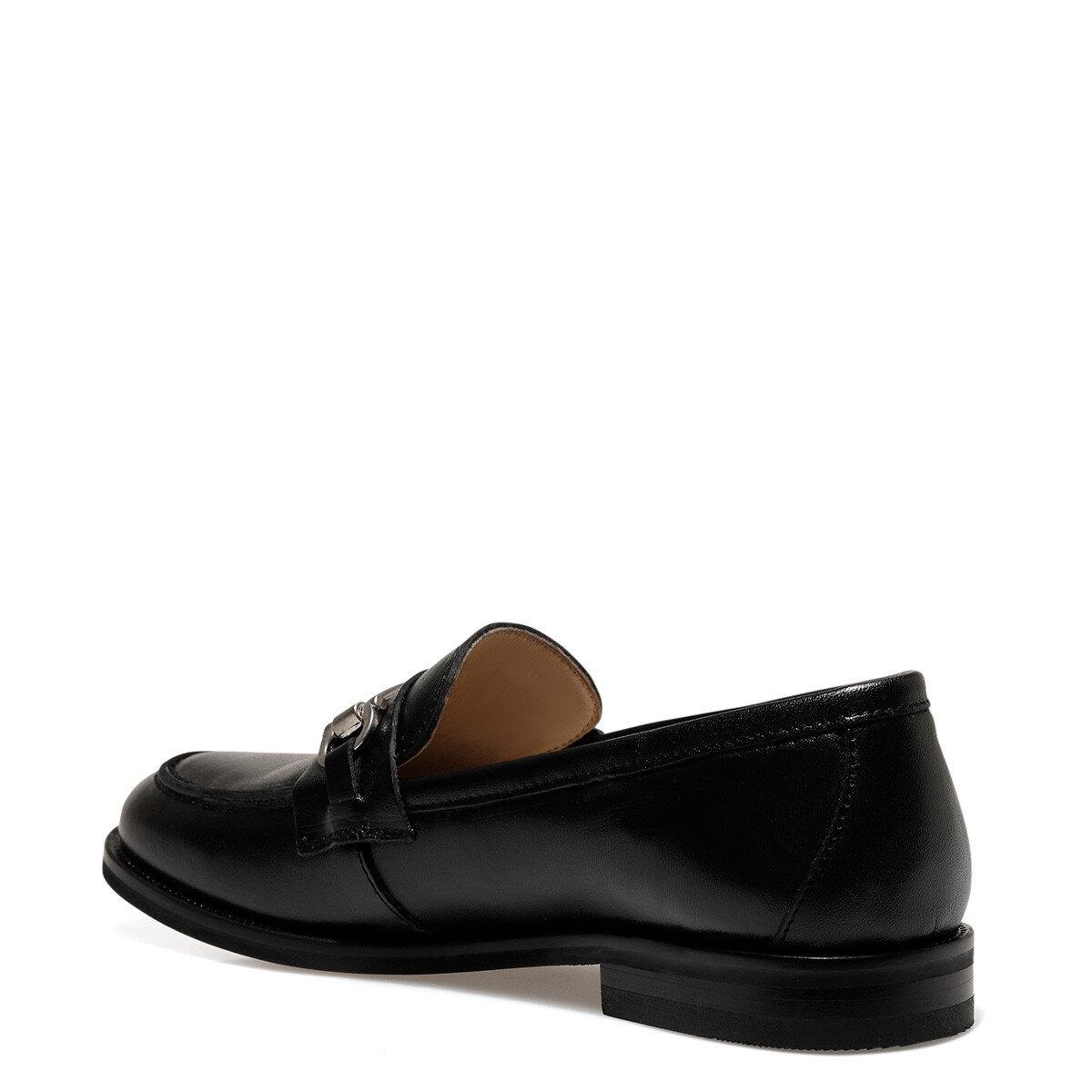 CLARISSA Siyah Kadın Loafer Ayakkabı
