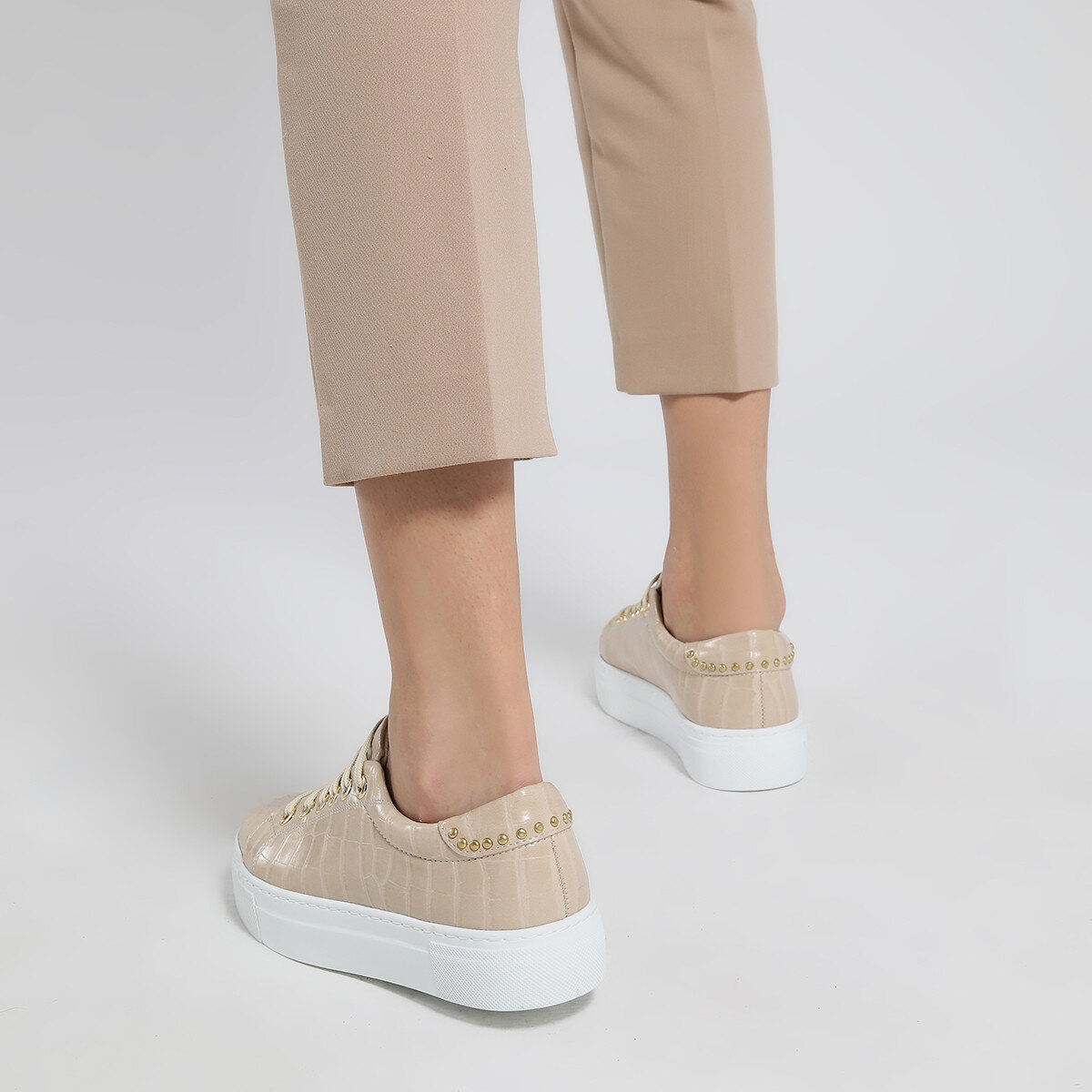 ANDY Bej Kadın Spor Ayakkabı