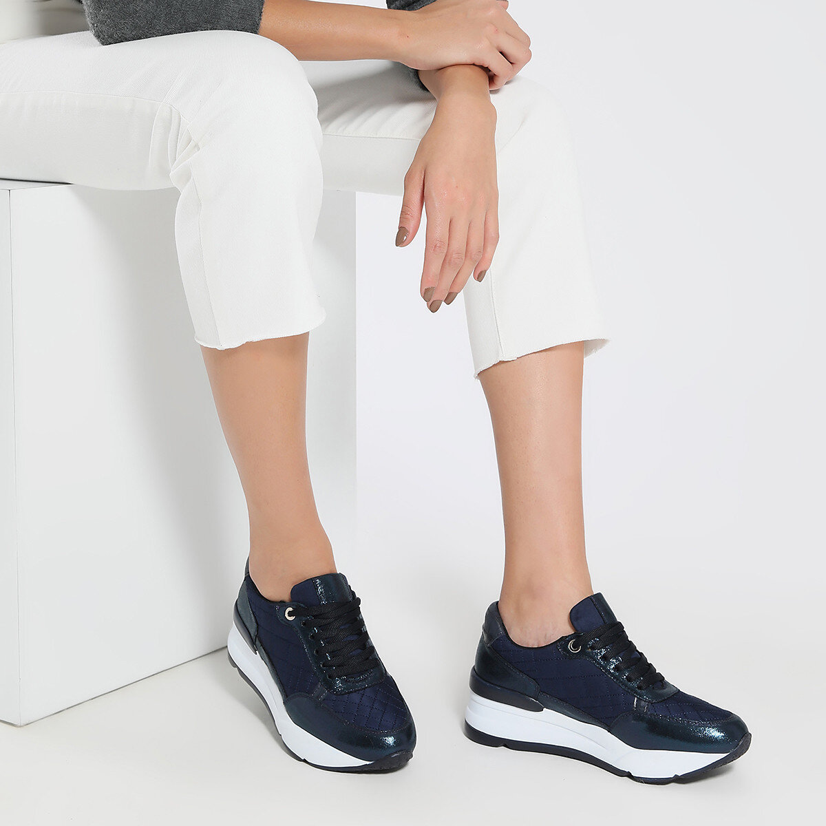 ALYSSA Lacivert Kadın Sneaker