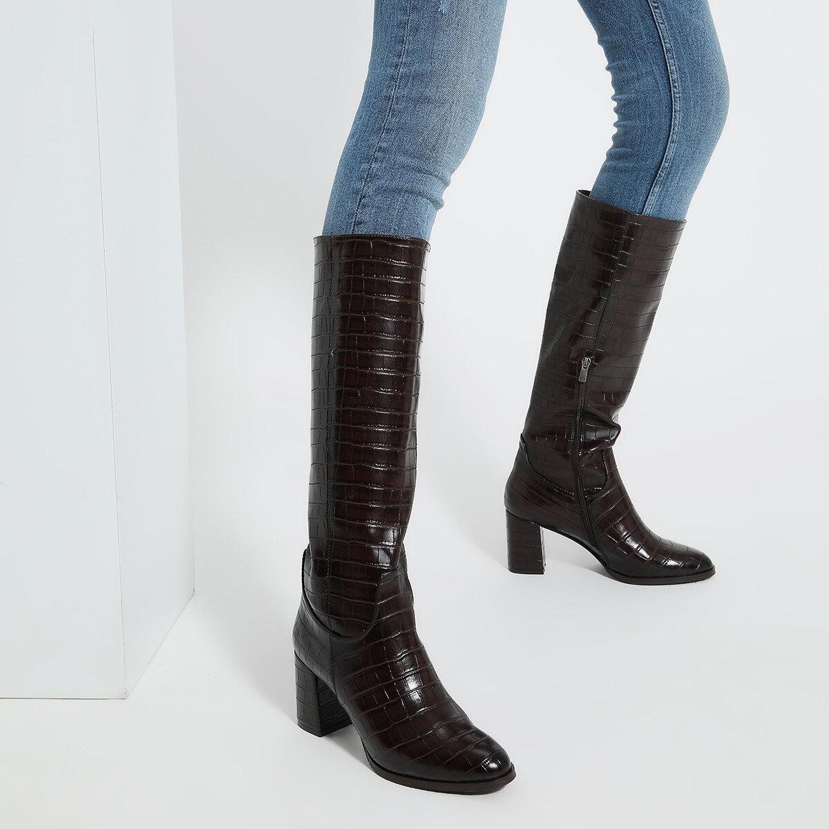 MASSA Kahverengi Kadın Topuklu Çizme