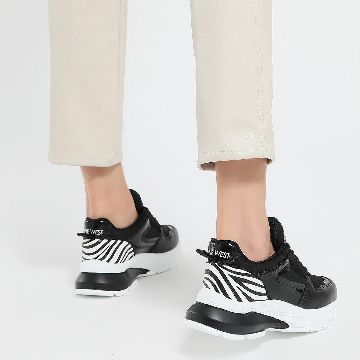 ZEBINA Siyah Kadın Fashion Sneaker