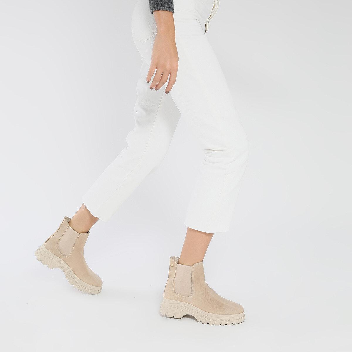 ELOV Bej Kadın Sneaker Bot