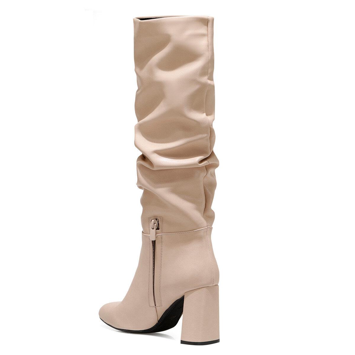 SORAMA Pudra Kadın Topuklu Çizme