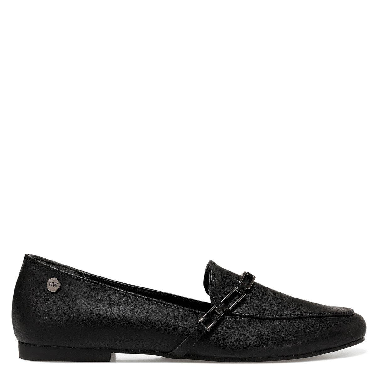 GENDAR Siyah Kadın Loafer Ayakkabı