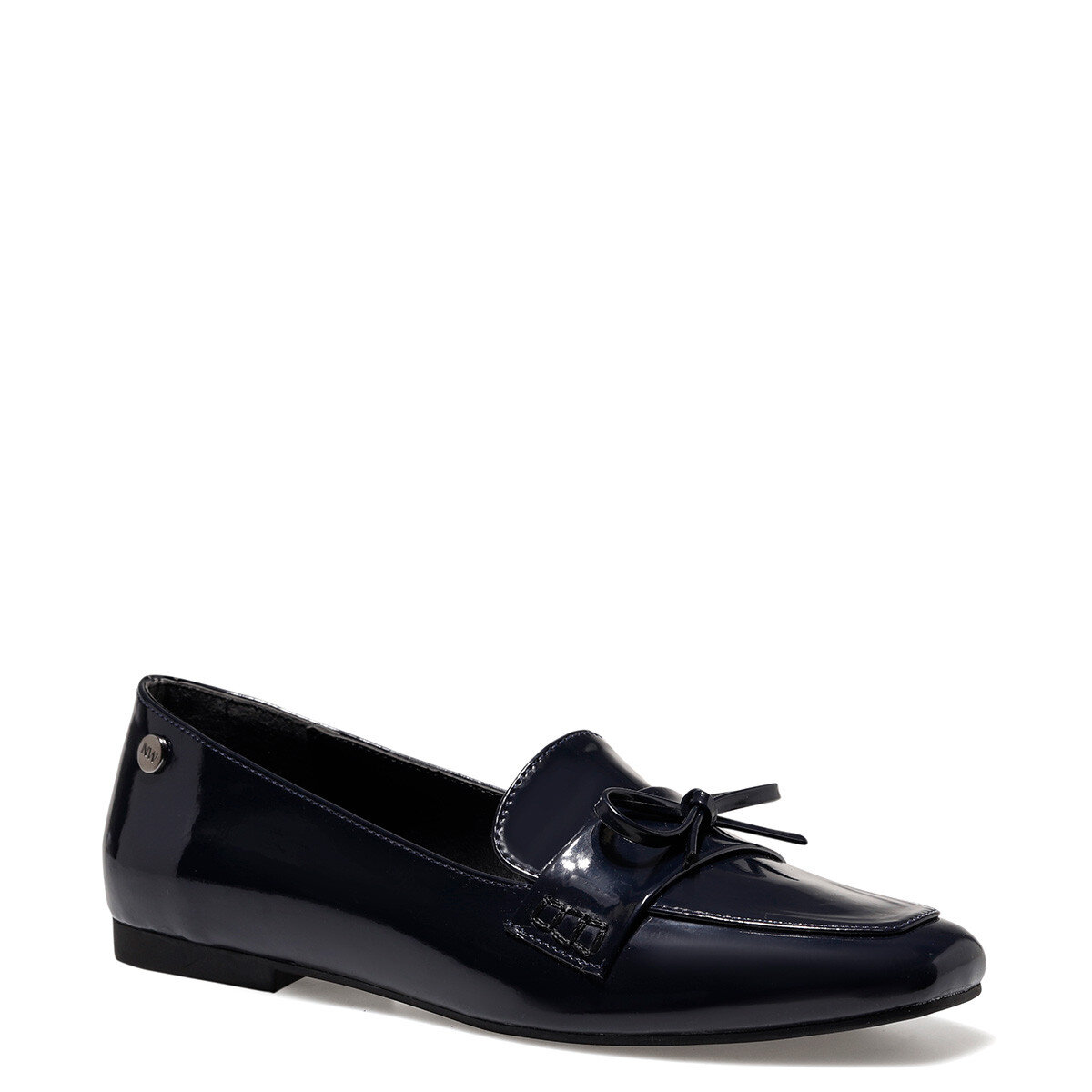 KUNET Lacivert Kadın Loafer Ayakkabı