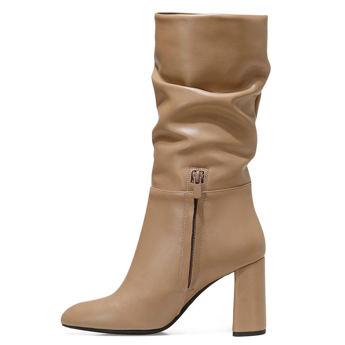 UMBRIA Vizon Kadın Topuklu Çizme