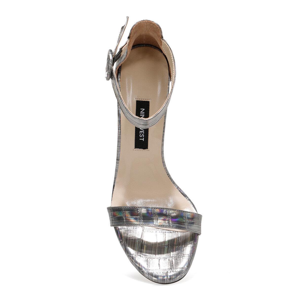 LINDIT Gümüş Kadın Topuklu Ayakkabı