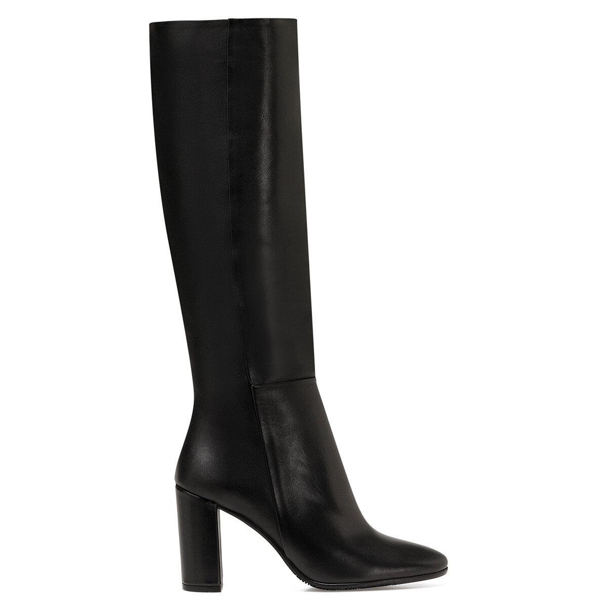 PRILLI Siyah Kadın Topuklu Çizme