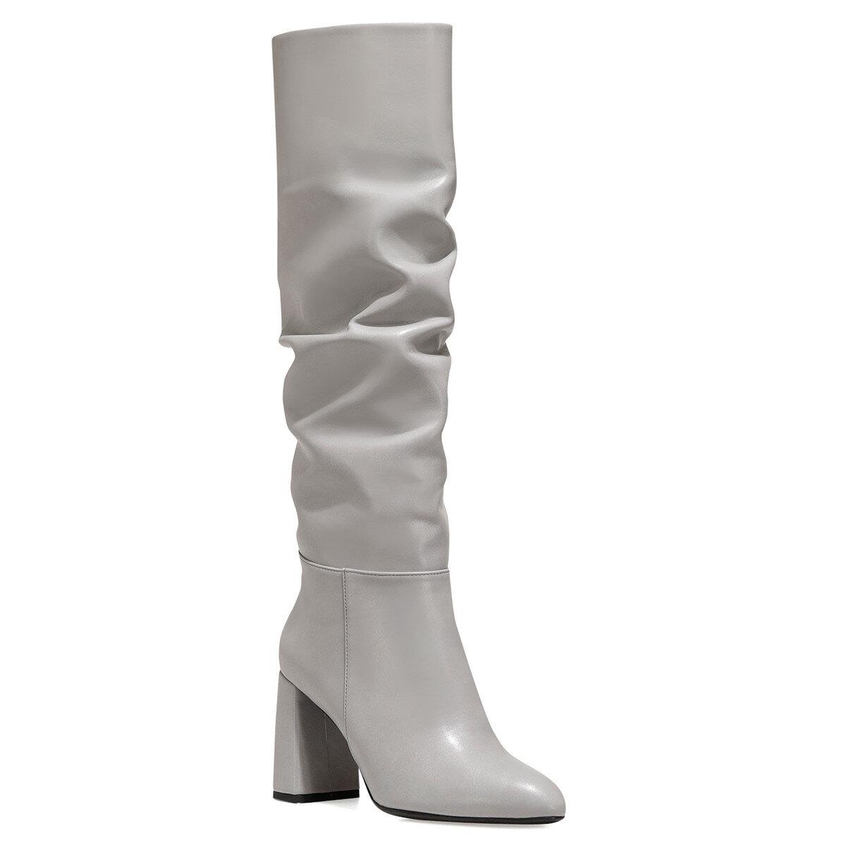 SORAMA Açık Gri Kadın Topuklu Çizme
