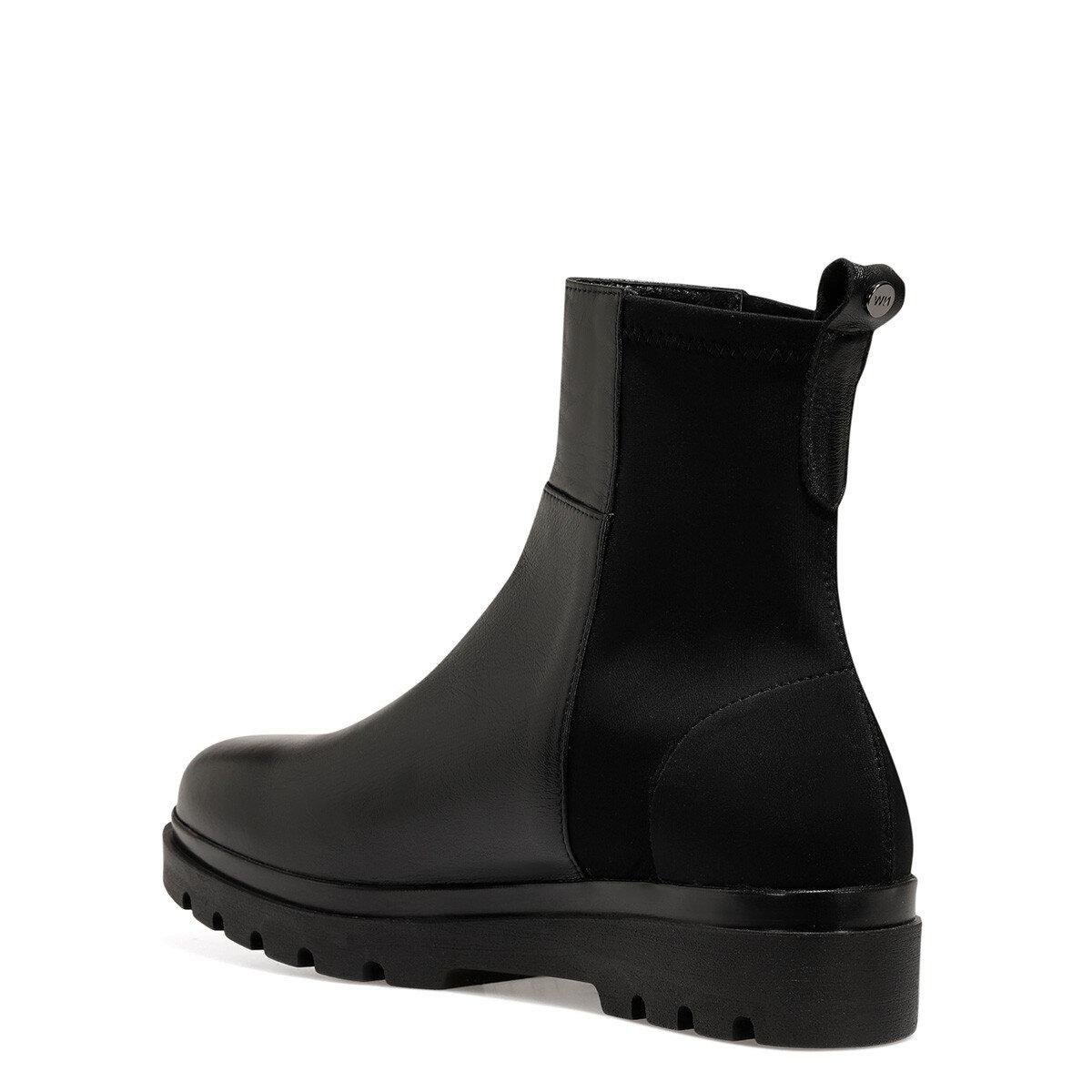 MOSTE Siyah Kadın Dolgu Topuk Ayakkabı