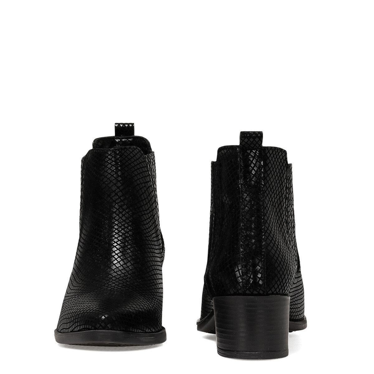 KESSO Siyah Kadın Topuklu Bot