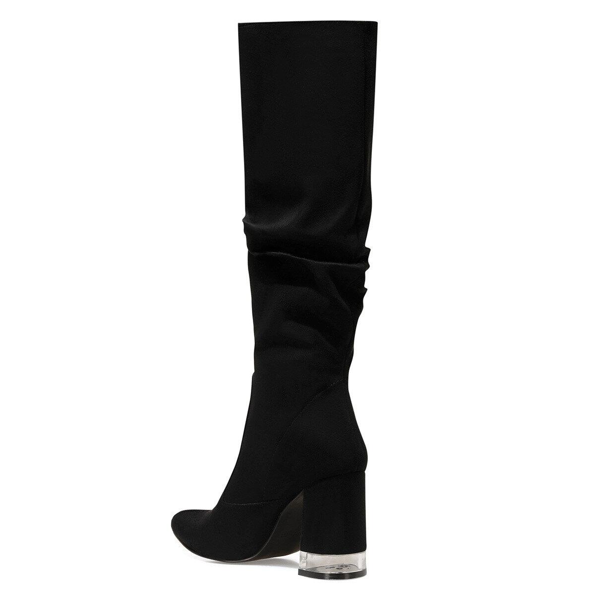 MIRANI Siyah Kadın Topuklu Çizme