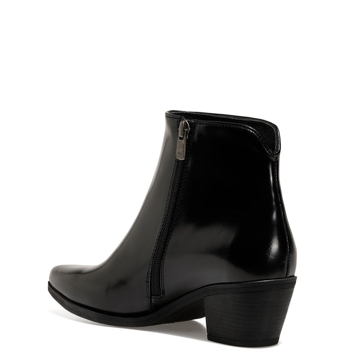RHO Siyah Kadın Topuklu Bot