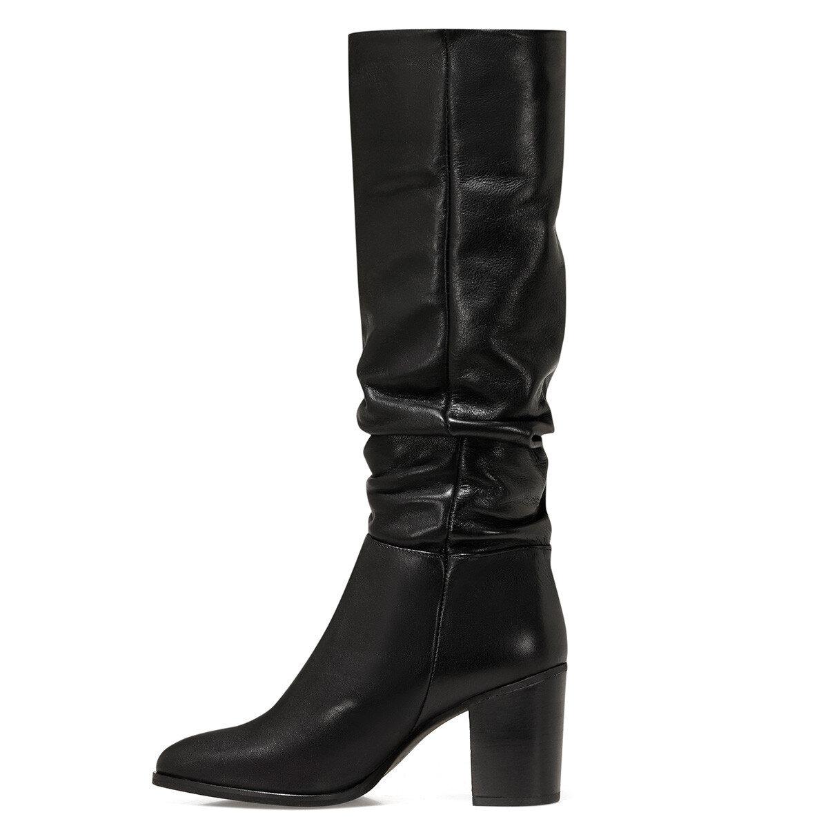 GAYDA Siyah Kadın Topuklu Çizme