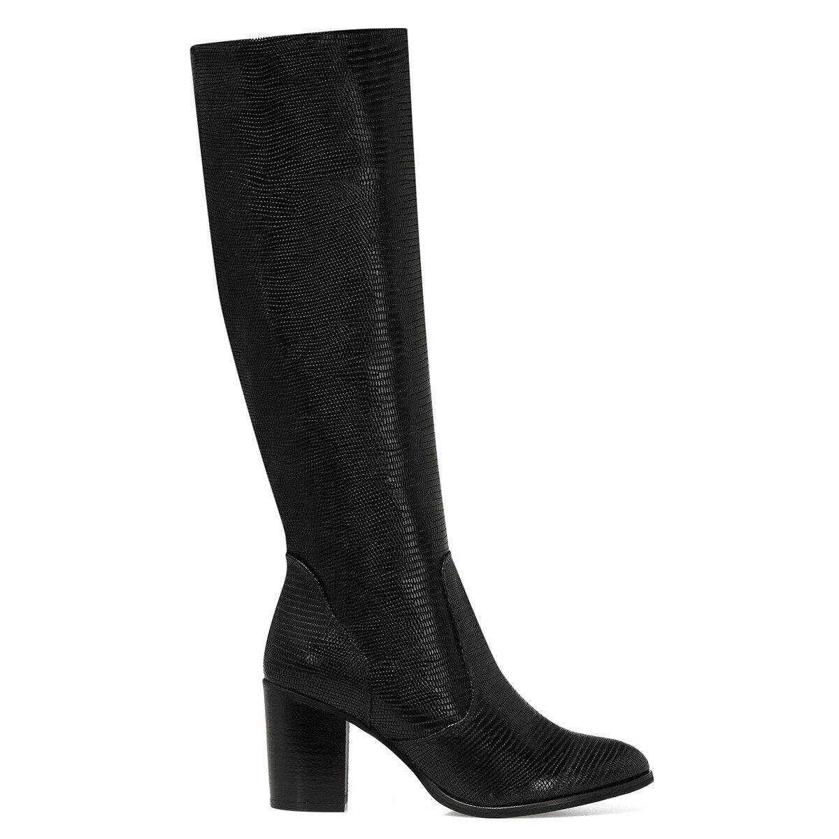 LULU Siyah Kadın Topuklu Çizme