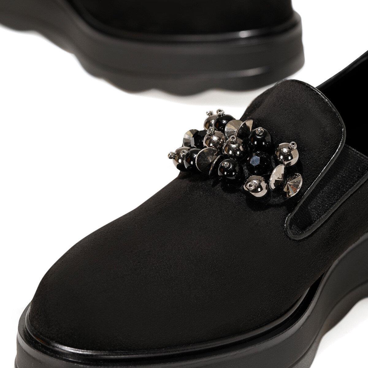 LAVRE Siyah Kadın Comfort Ayakkabı