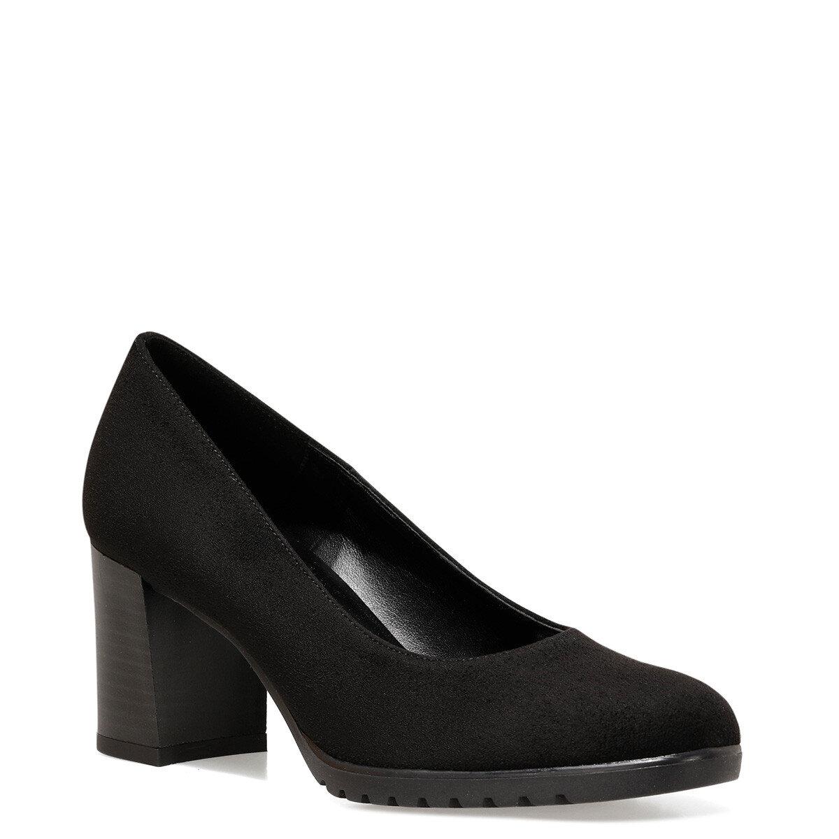 PVENS Siyah Kadın Klasik Topuklu Ayakkabı