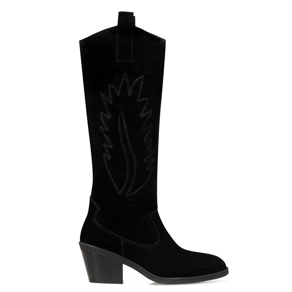 COSME2 Siyah Kadın Topuklu Çizme