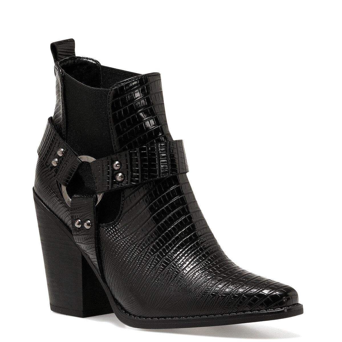 POLINA Siyah Kadın Topuklu Bot