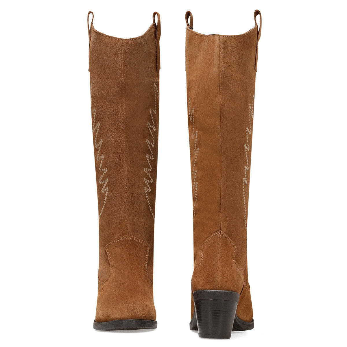 COSME2 Taba Kadın Topuklu Çizme