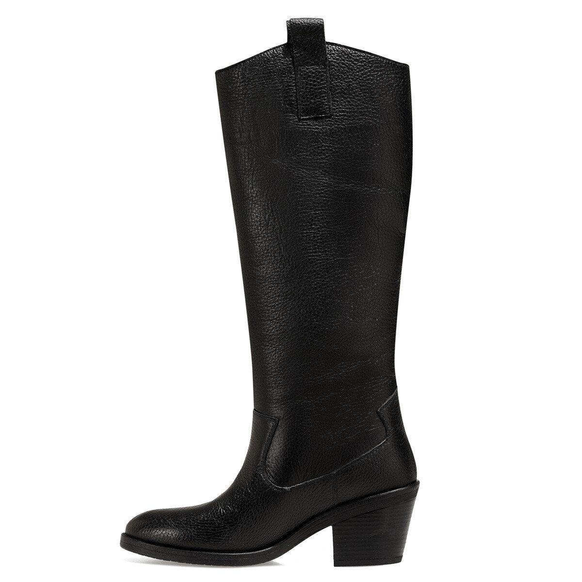 COSMIC Siyah Kadın Topuklu Çizme