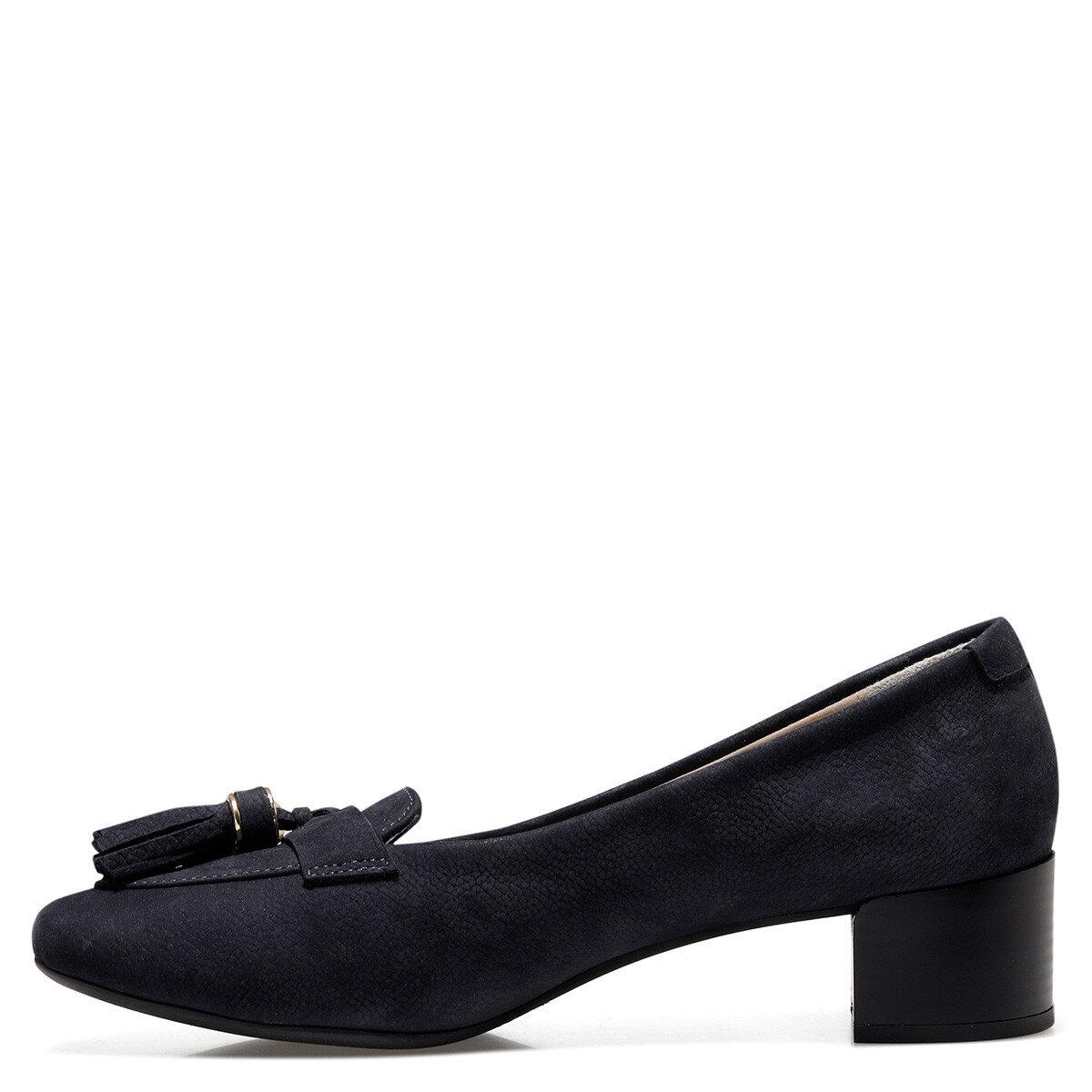 MOSSE Lacivert Kadın Klasik Topuklu Ayakkabı