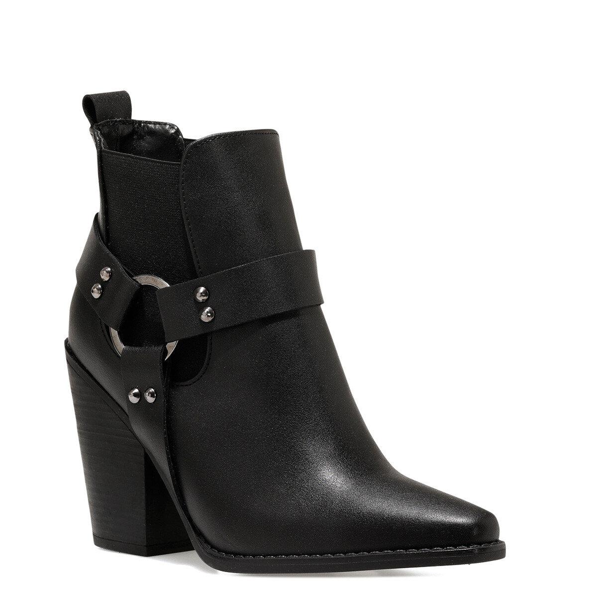 POLINA2 Siyah Kadın Topuklu Bot