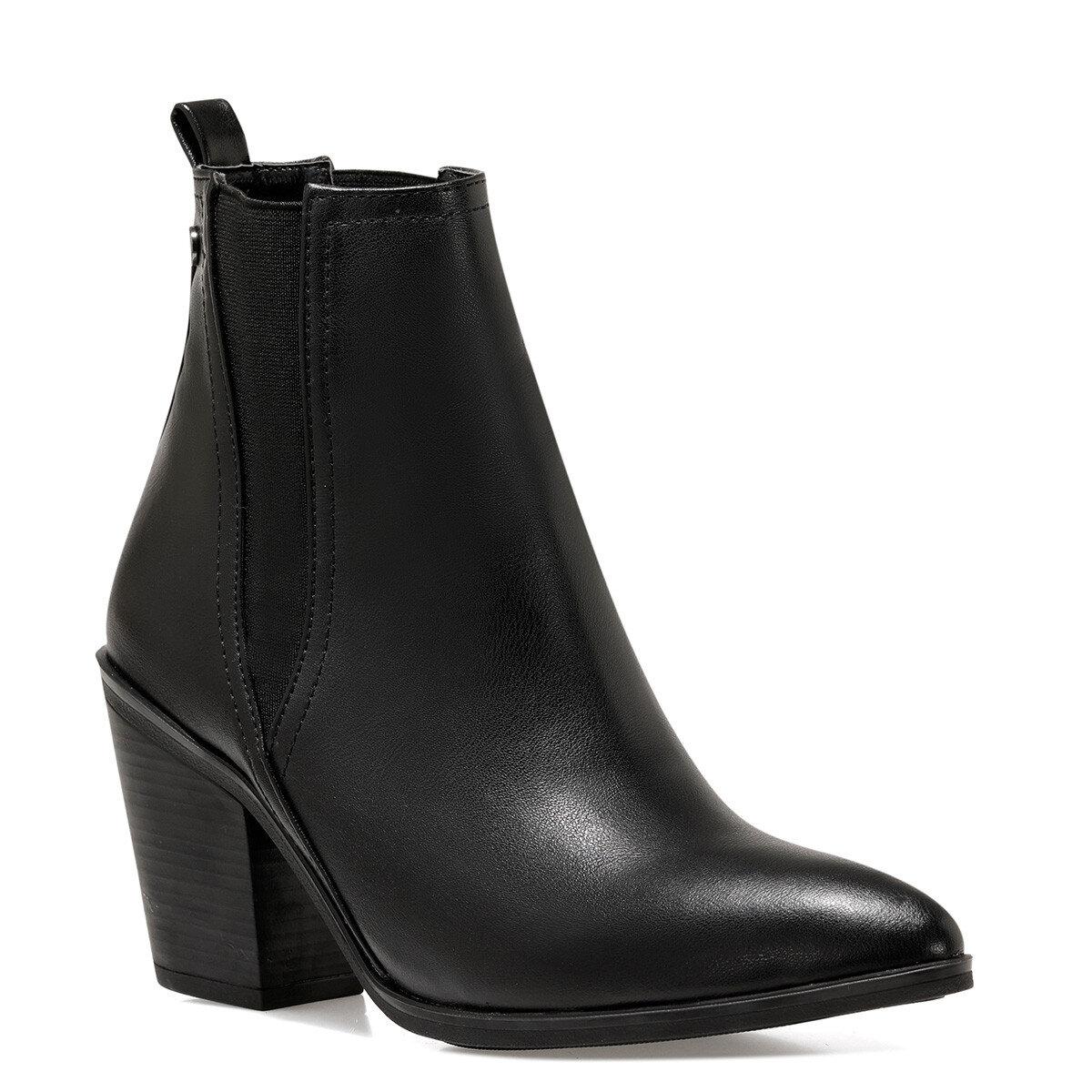 BARGEN2 Siyah Kadın Topuklu Bot