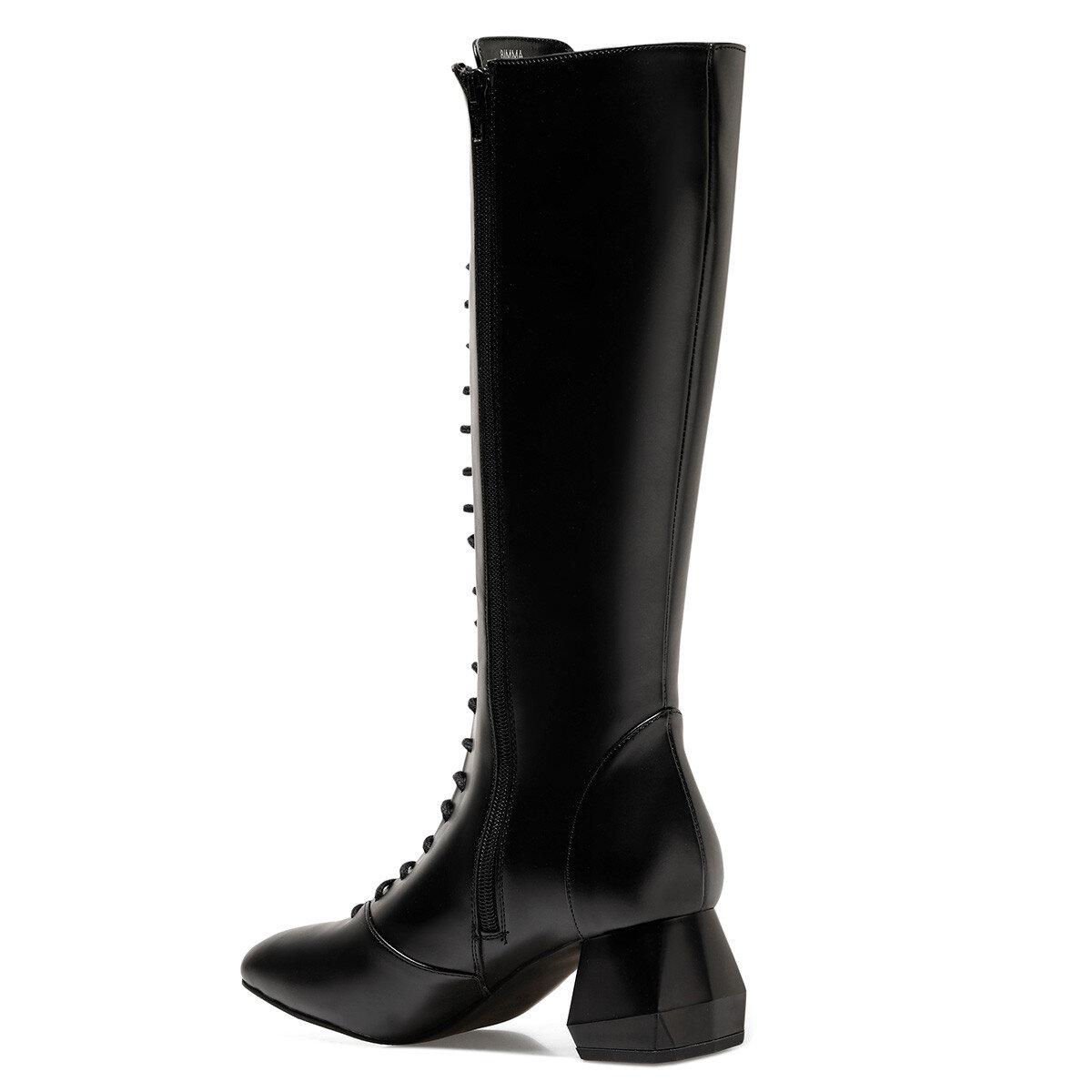 BIMMA Siyah Kadın Topuklu Çizme