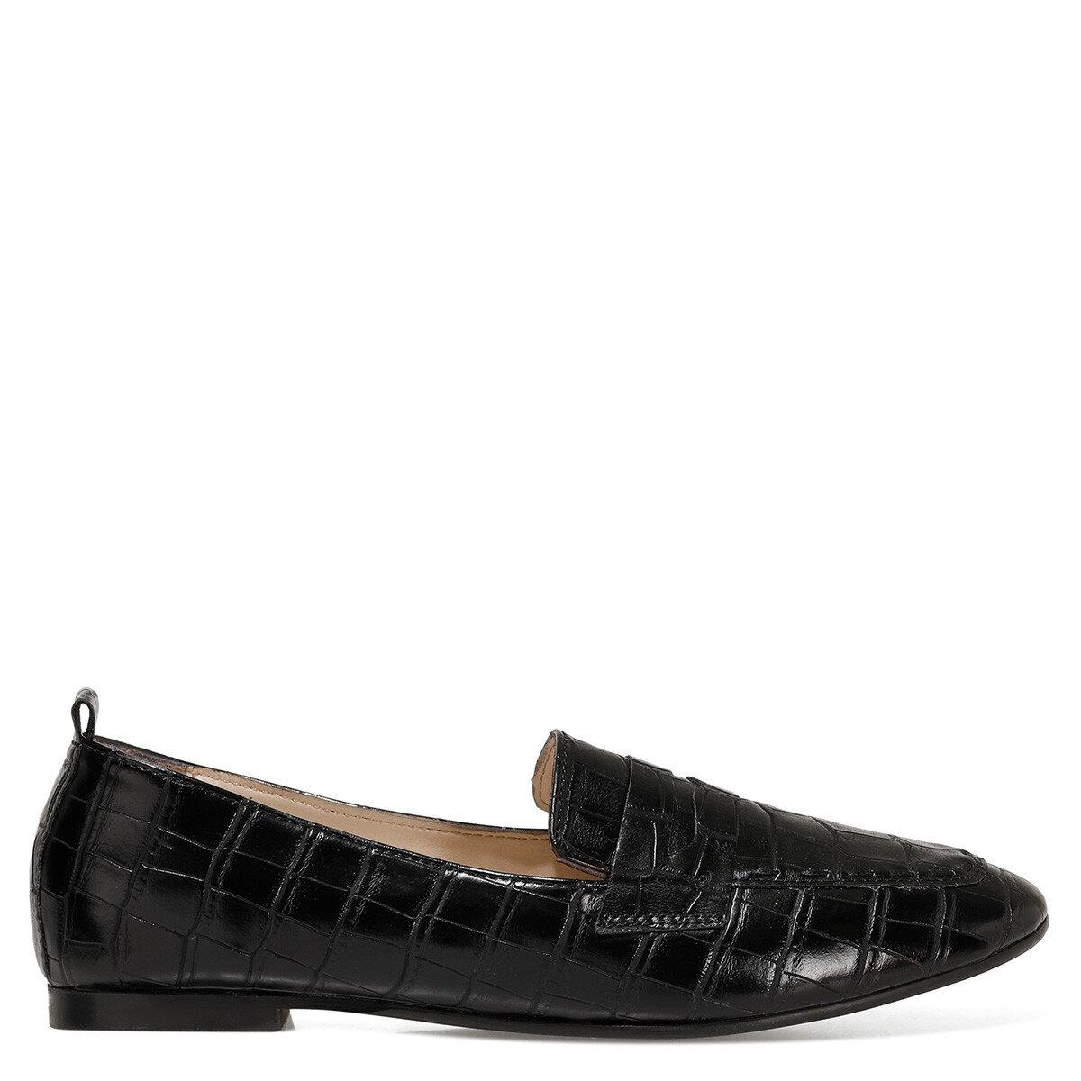 LEFUR2 Siyah Kadın Loafer Ayakkabı