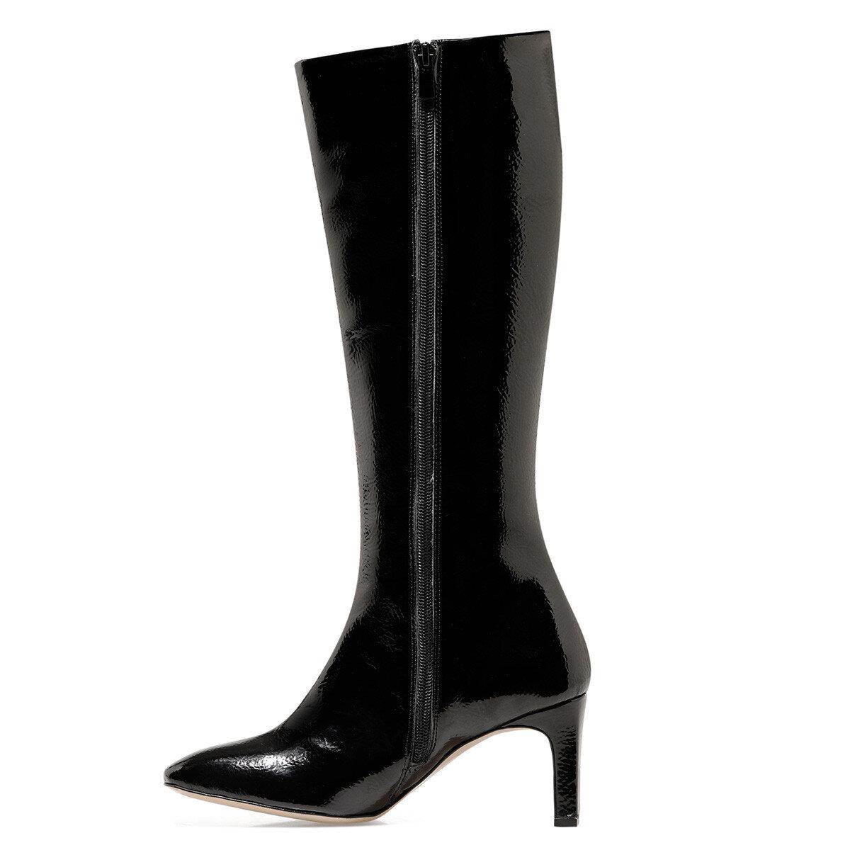 LAROSA Siyah Kadın Topuklu Çizme